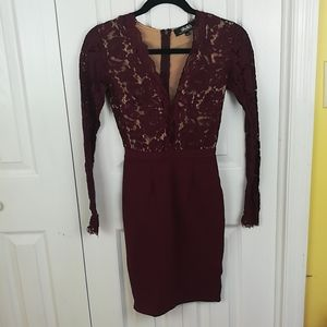 LuLu's burgundy Swoooner or Later bodycon dress